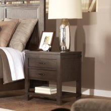 Promenade - Two Drawer Nightstand - Warm Cocoa Finish