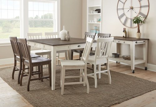 """Cayla Counter Chair, White 19""""x25""""x41.5"""""""