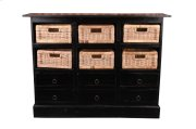 Sunset Trading Cottage Six Basket Cabinet - Sunset Trading Product Image