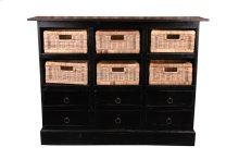 Sunset Trading Cottage Six Basket Cabinet