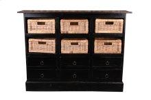Sunset Trading Cottage Six Basket Cabinet - Sunset Trading