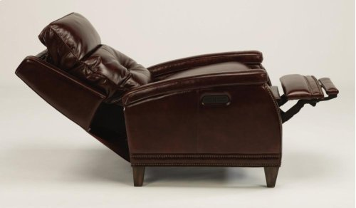 Raleigh Leather Power High-Leg Recliner with Power Headrest