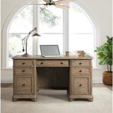 Barrington - Double Pedestal Desk - Antique Oak Finish