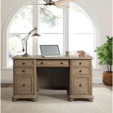 Barrington - Double Pedestal Desk - Antique Oak Finish