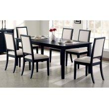 Louise Transitional Black Rectangular Dining Table