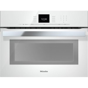 MieleH 6600 BM 24 Inch Speed Oven with combi-modes and Roast probe for precise-temperature cooking.