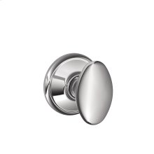 Siena Knob Hall & Closet Lock - Bright Chrome