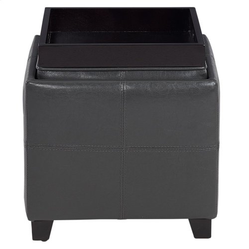 Anton II Square Storage Ottoman in Grey