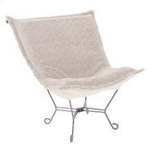 Scroll Puff Chair Angora Natural