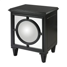 GLOSS BLACK CABINET WITH COVEX MIRROR