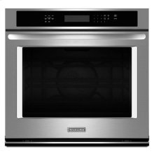 """KitchenAid® 30"""" Single Wall Oven with Even-Heat True Convection - Stainless Steel"""