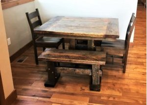 Reclaimed Standard Trestle Bench