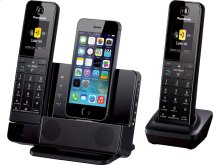 Link2Cell Digital Phone with iPhone5 Integration and Answering Machine KX-PRL262B 2 Cordless Handsets
