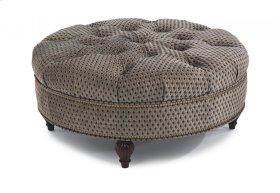 Martin Fabric Round Cocktail Ottoman