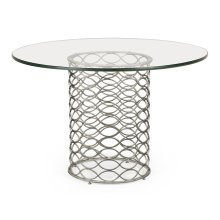 """48"""" Interlaced Silver & Glass Dining Table"""