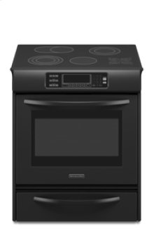 Slide-In Electric Range True Convection Oven Glass Cooktop Touch-Activated Controls Four Elements One Triple-Ring and Two Double-Ring Elements Architect® Series II