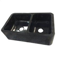 "Aubrey Double Bowl Reversible Granite Farmer Sink - 36"""