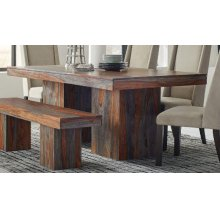 Binghamton Rustic Grey Sheesham Dining Table