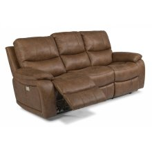 Hendrix Fabric Power Reclining Sofa with Power Headrests