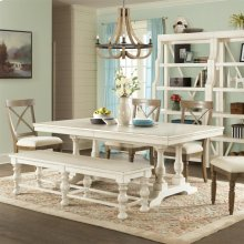 Aberdeen - 80-inch Rectangular Dining Table Top - Weathered Worn White Finish