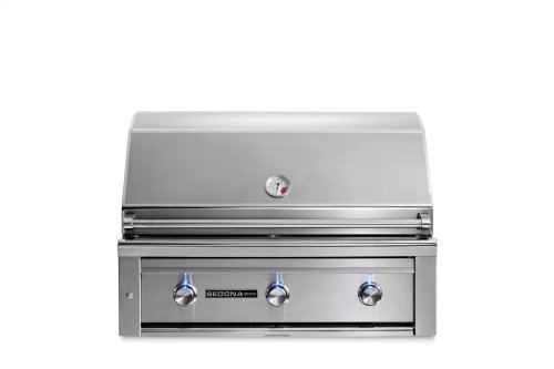 "36"" Sedona by Lynx Built In Grill with 3 Stainless Steel Burners, NG"