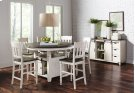 Madison County Slatback Counter Stool - Vintage White Product Image