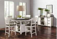 Madison County Round Dining Table - Vintage White
