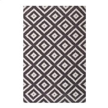 Alika Abstract Diamond Trellis 8x10 Area Rug in Ivory and Charcoal