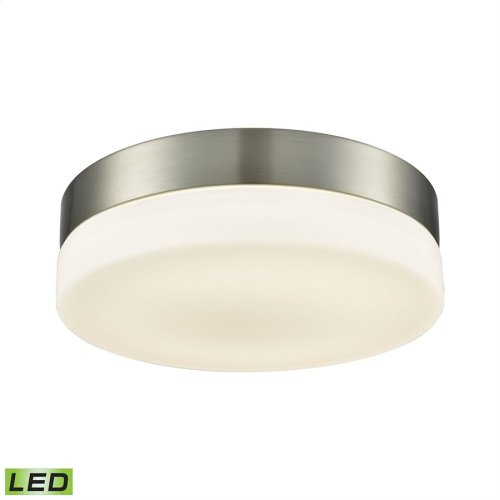 Holmby 1-Light Round Flush Mount in Satin Nickel with Opal Glass Diffuser - Integrated LED - Medium