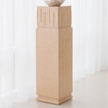 French Key Pedestal-Light Limed