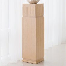 French Key Pedestal-Light Limed
