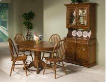 Classic Oak 42x60 Solid Oak Pedestal Table Product Image