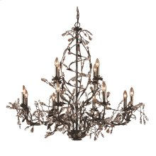 Circeo 12-Light Chandelier with Branches in Deep Rust