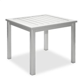 """28"""" Square End Table Ht: 21"""" Post Aluminum Base (Model # Includes Both Top & Base)"""