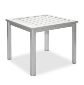 "28"" Square End Table Ht: 21"" Post Aluminum Base (Model # Includes Both Top & Base)"