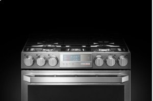 LG SIGNATURE 6.9 cu.ft. Smart wi-fi Enabled Gas Double Oven Slide-In Range with ProBake Convection® Product Image