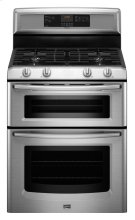 6.0 cu. ft. Capacity Double Oven Gas Range with Power Cook Burner Product Image