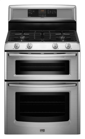 6.0 cu. ft. Capacity Double Oven Gas Range with Power Cook Burner