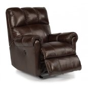 McGee Leather Power Rocking Recliner