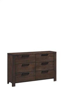 6 Drawer Dresser-walnut Finish#wn41