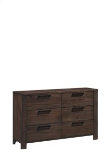 6 Drawer Dresser-walnut Finish#wn41