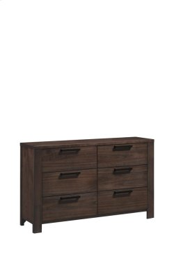 6 Drawer Dresser-walnut Finish#wn41 Product Image