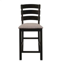 Oakley Industrial Oatmeal and Black Counter-height Stool