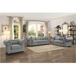 Chesterfield Loveseat Grey