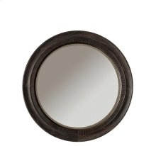 Bellagio Round Mirror Weathered Worn Black finish