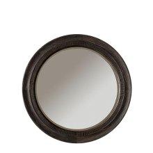 Bellagio Round Mirror Weathered Worn Black finish