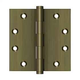 """4 1/2"""" x 4 1/2"""" Square Hinges - Antique Brass"""