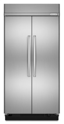 30.0 cu. ft 48-Inch Width Built-In Side by Side Refrigerator with PrintShield Finish - Stainless Steel