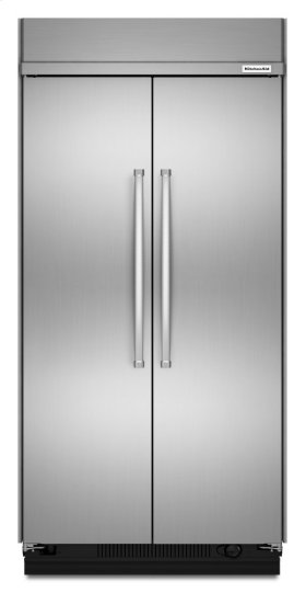 30.0 cu. ft 48-Inch Width Built-In Side by Side Refrigerator with PrintShield Finish - PrintShield Stainless