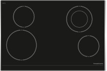 """30"""" (76cm) electric ceramic cooktop with stainless steel trim on side edges"""